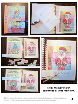 Fact and Opinion Sort, Christmas Literacy Centers, Reading Interactive Notebook