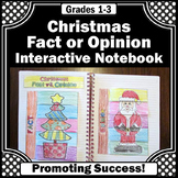 Fact and Opinion Sort, Christmas Literacy Centers, Reading