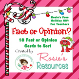 Christmas Fact or Opinion