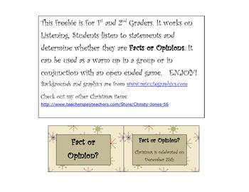 Christmas Fact or Opinion FREEBIE