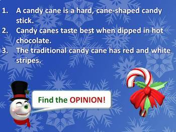 Christmas PowerPoint Lesson {Fact or Opinion}