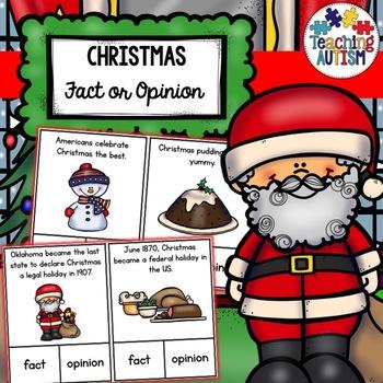 Christmas Fact or Opinion Task Cards