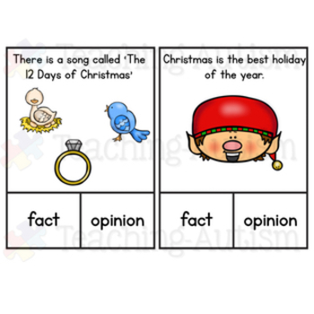 Christmas Fact or Opinion Task Cards