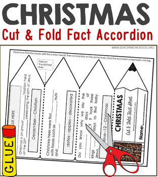 Christmas Facts Foldable Accordion