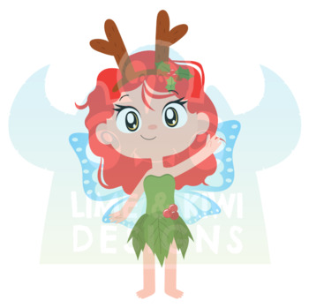 Christmas Fairies 4 Clipart   Instant Download Vector Art   Commercial Use