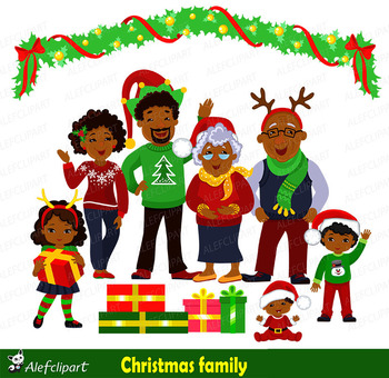 Christmas family clipart family african american - African american christmas images ...