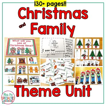 Christmas & Family Thematic Unit For Special Education (Autism Resource)