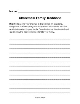 Christmas: Family Traditions Writing Prompt