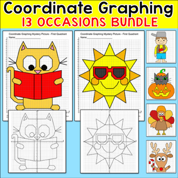 Coordinate Graphing - End of the Year Activities, Spring Activities & Many More