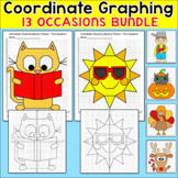 All Year Coordinate Graphing Pictures w/ Summer Math & Back to School Math