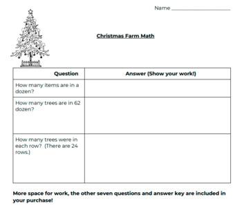 Christmas Farm Math