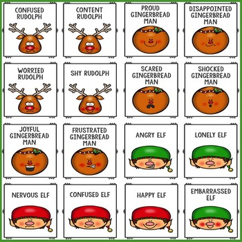 Christmas Feelings Bingo Counseling Game for Emotion Identification