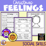 Christmas Feelings- Black and white printable worksheets