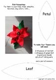 Christmas Felt Poinsettia