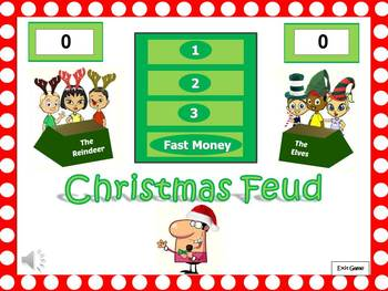 Christmas Feud Powerpoint Game { DISCOUNTED BUNDLE}