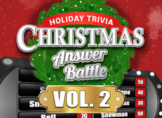 Christmas Answer Battle Vol 2 Holiday Trivia Family Game Powerpoint Mac PC iPad
