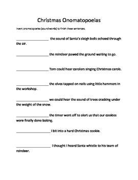 Christmas Activities for Figurative Language