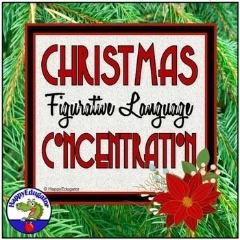 Christmas Figurative Language Memory Game PowerPoint
