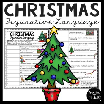 Christmas Figurative Language Identification, December, Simile, Metaphor