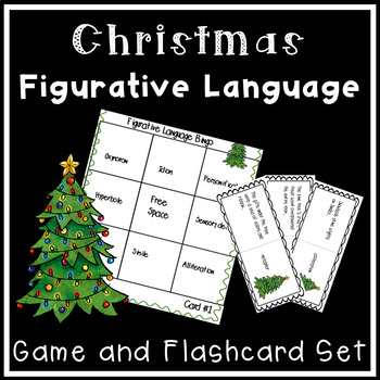 Christmas Bingo Figurative Language Activity