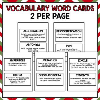 Christmas Figurative Language (No Prep Activities)