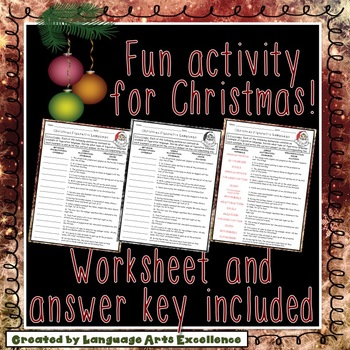 Christmas Figurative Language Practice