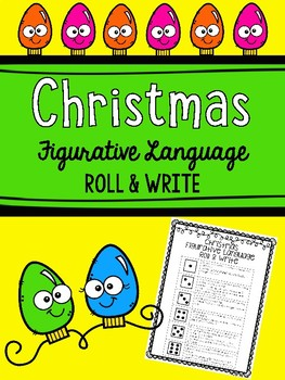 Christmas Figurative Language Roll and Write