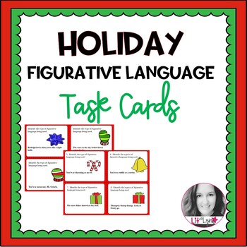 Holiday Figurative Language Task Cards