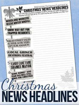Christmas Figurative Language Worksheets