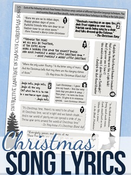 christmas figurative language worksheets by stacey lloyd tpt. Black Bedroom Furniture Sets. Home Design Ideas