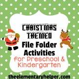 Christmas File Folder Activities for Preschool and Kindergarten