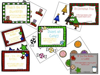Christmas File Folder Bundle- Color Matching