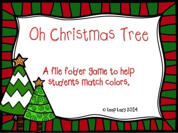 Christmas Tree Color Matching- File Folder Game