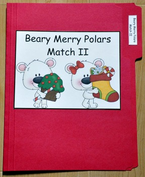 "Christmas File Folder Game--""Beary Merry Polars Match II"""
