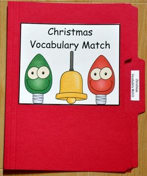 "Christmas File Folder Game--""Christmas Vocabulary Match"""