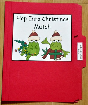 """Christmas File Folder Game--""""Hop Into Christmas"""""""