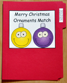 "Christmas File Folder Game--""Merry Christmas Ornaments Match"""