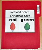 "Christmas File Folder Game--""Red and Green Sort"""