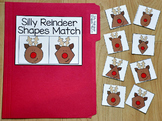 "Christmas File Folder Game:  ""Silly Reindeer Shapes Match"""