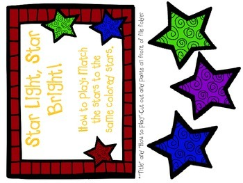 Christmas Color Matching- File Folder Games
