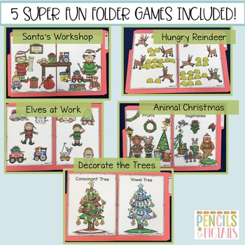 Christmas File Folder Games - Morning Work, Centers, Small Group & More!