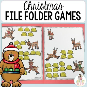 christmas file folder games morning work centers small group more - Christmas Games For Groups