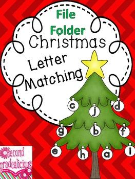 Christmas File Folder Letter Matching