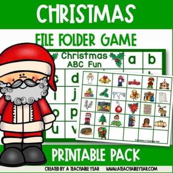 Christmas File Folder- Matching Letters and Pictures