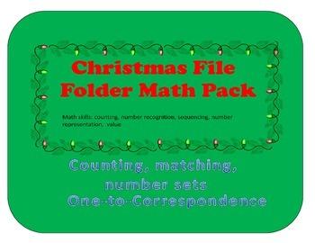 Christmas File Folder Math Pack