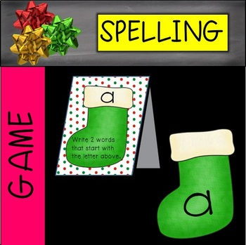 Christmas Fill the Stocking-Spelling