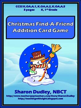 Christmas Find-A-Friend Addition Card Game