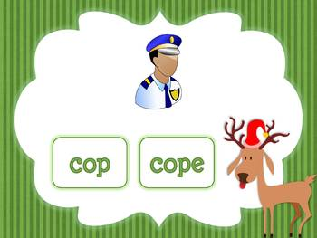 Christmas Find the CVC or CVCe Word for Smartboard/Promethean Board!