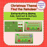 Christmas Find the Reindeer Game Adding Subtracting and Mu