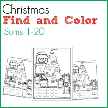 Christmas Find the Sums for Sums of 1-20